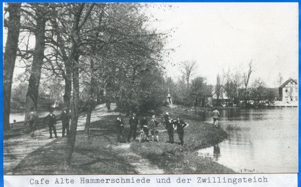 Königsberg (Pr.), Кафе Старый Hammerschmiede близнец и пруд