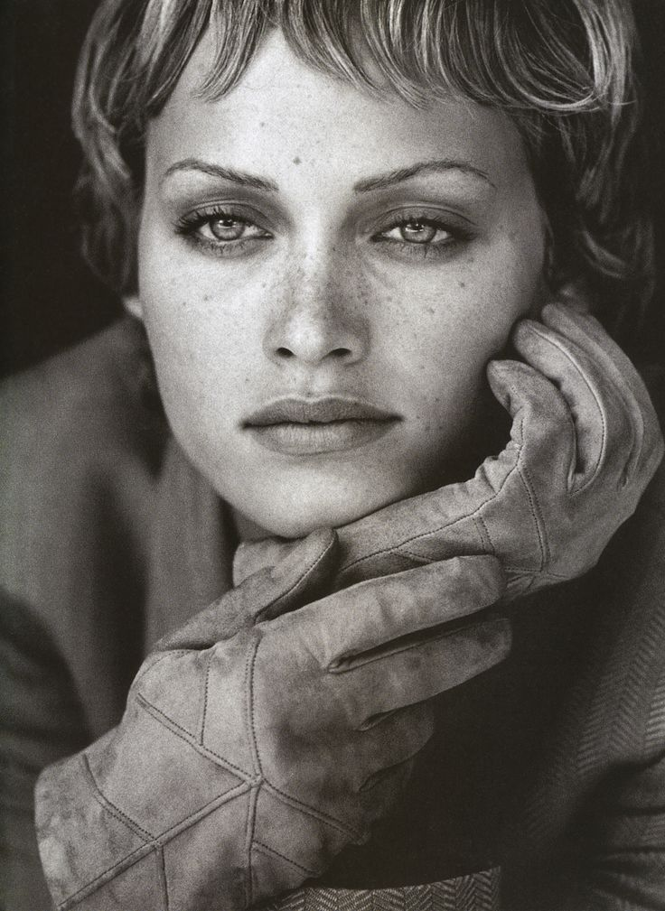 Amber Valletta for Giorgio Armani, by Peter Lindbergh, 1993