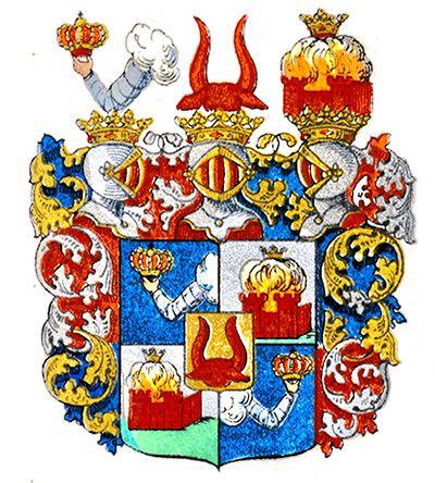 Vapensköld för grevliga ätten Oxenstierna af Croneborg. Oxenstierna af Croneborg nr 10  Vapensköld för grevliga ätten Oxenstierna af Croneborg Grevliga ätten Oxenstierna af Croneborg nr 10 † Grevlig 1651-11-10. † 1803-01-30
