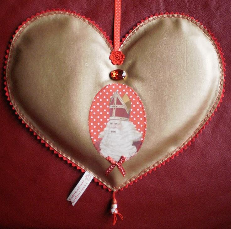 ~Deurhanger ter ere van Sinterklaas~ Met heel mijn hart hou ik van Sinterklaas