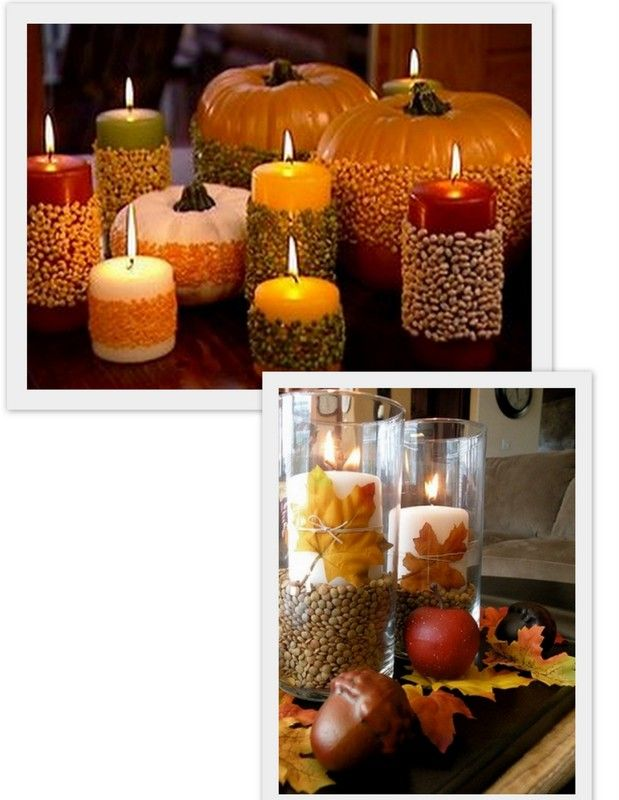 using seeds to decor; HomeGoods | Dining Defined, Refined, And Sublimed By Candlelight