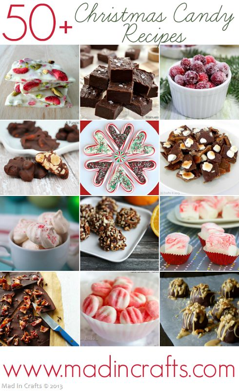 Over 50 Christmas Candy Recipes - Mad in Crafts