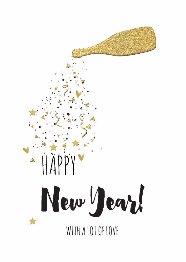 nieuwjaarskaart goud lo miscellaneous cards pinterest happy new happy and happy new year