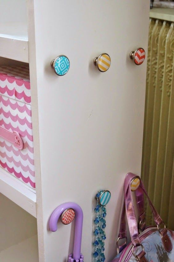 Home Decorator's Collection Knobs from Home Depot for DIY Dress Up Storage Cart