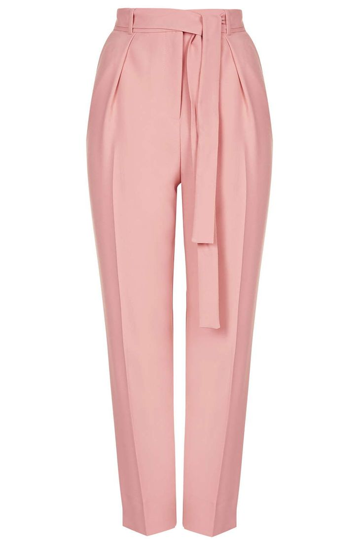 Belted Crepe Peg Trousers - New In- Topshop