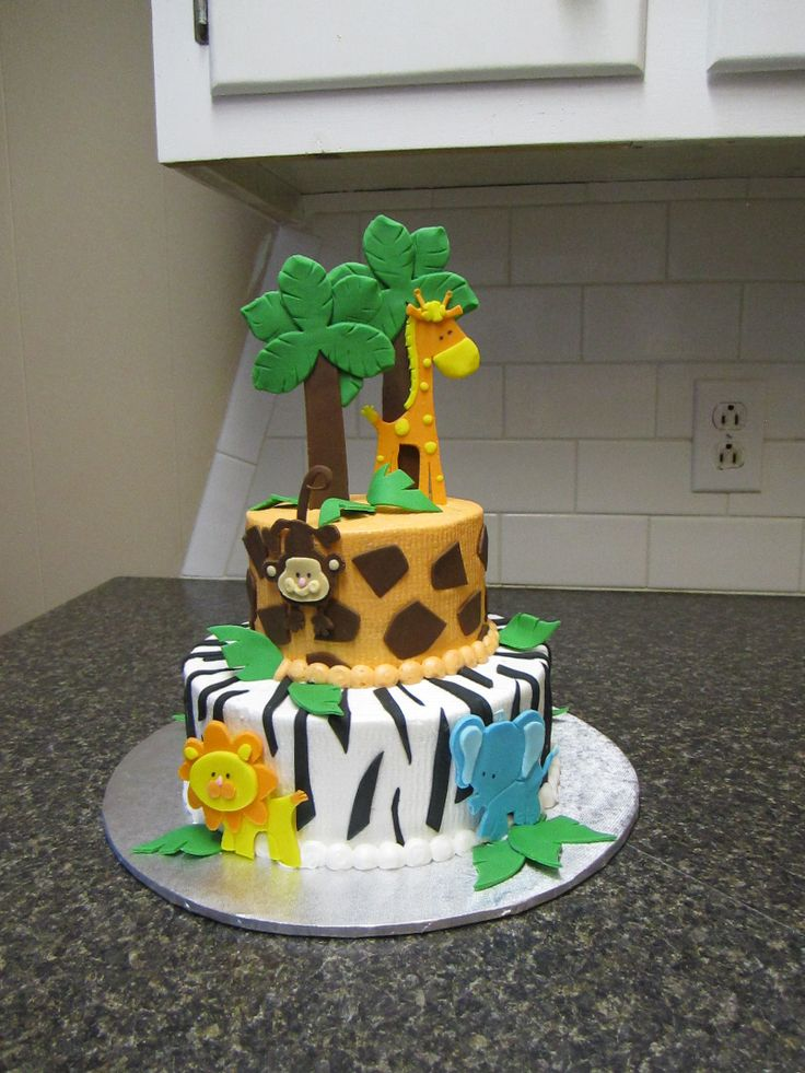 Safari Baby Shower Cake Lcd Shower Cakes Safari Baby