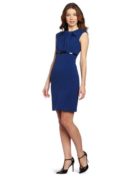 Calvin klein women 39 s knotted career dress for Creer dressing