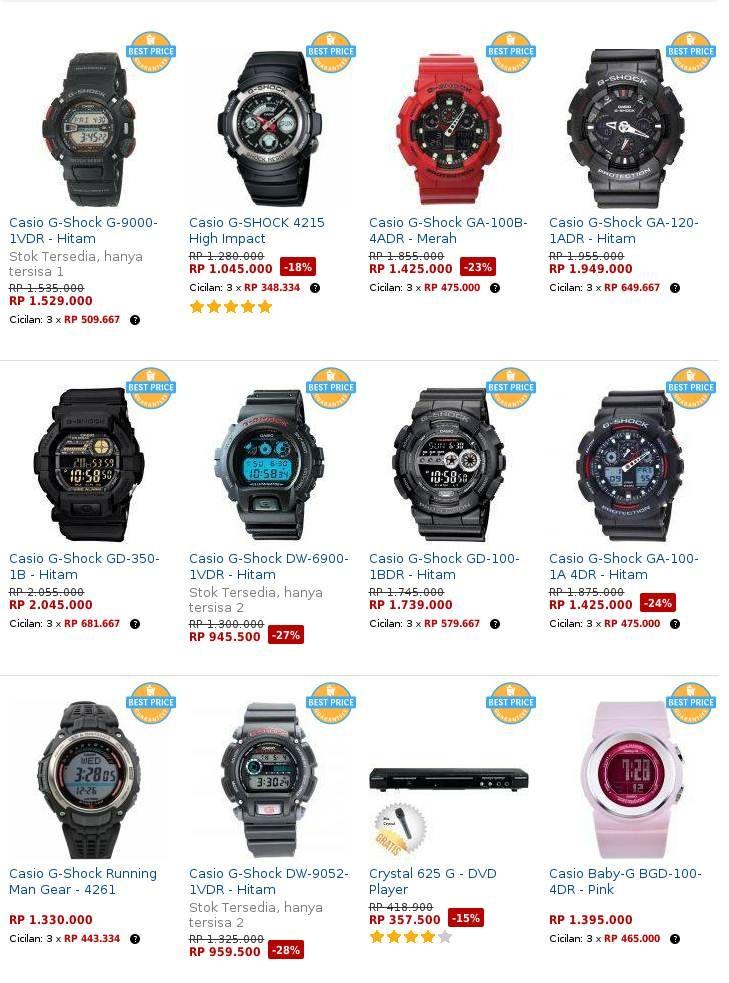 Daftar Harga Jam Tangan Casio G-Shock Terbaru