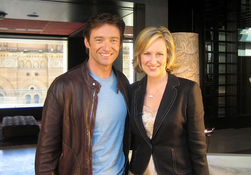 Melissa Doyle & Hugh Jackman by Yahoo!7 - Sunrise Family, via Flickr