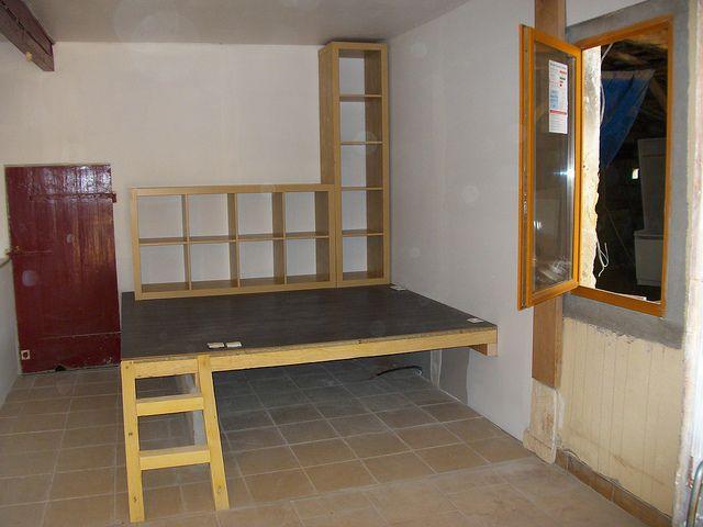 En inspirer pour la chambre – estrade chambre lit  podium coin