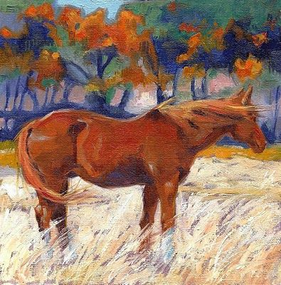 Winds of Change - impressionistic horse oil paintings by Debbie Grayson Lincoln