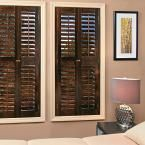 homeBASICS Plantation Walnut (Brown) Real Wood Interior Shutters (Price Varies by Size)