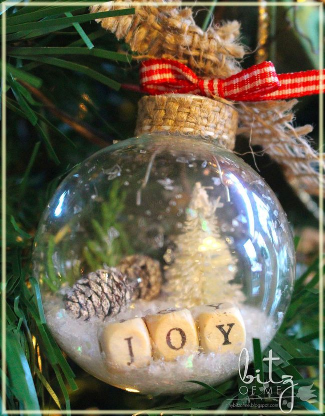 diy rustic country shaker ornaments, christmas decorations, crafts,  seasonal holiday decor, Bottle Brush trees can be purchased or made fit  inside with a ... - DIY Rustic Country Shaker Ornaments Christmas Christmas
