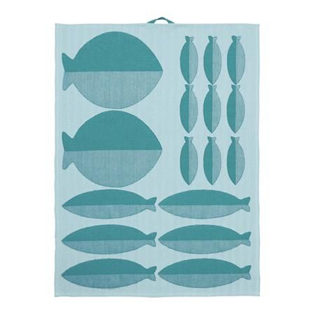 ASA Selection Kitchen Towel Fish, Turquoise