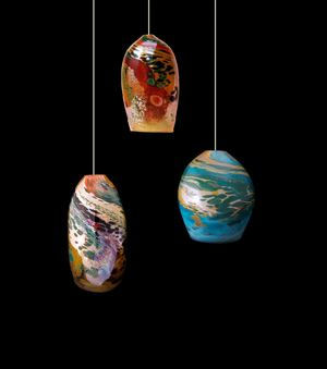 glass blown pendant lighting. Blown Glass Pendant Lights By Kelly Howard Are Now Available At DragonFire Gallery In Cannon Beach Lighting G