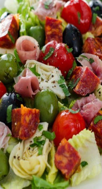 Antipasti Salad - add mozzarella pearls
