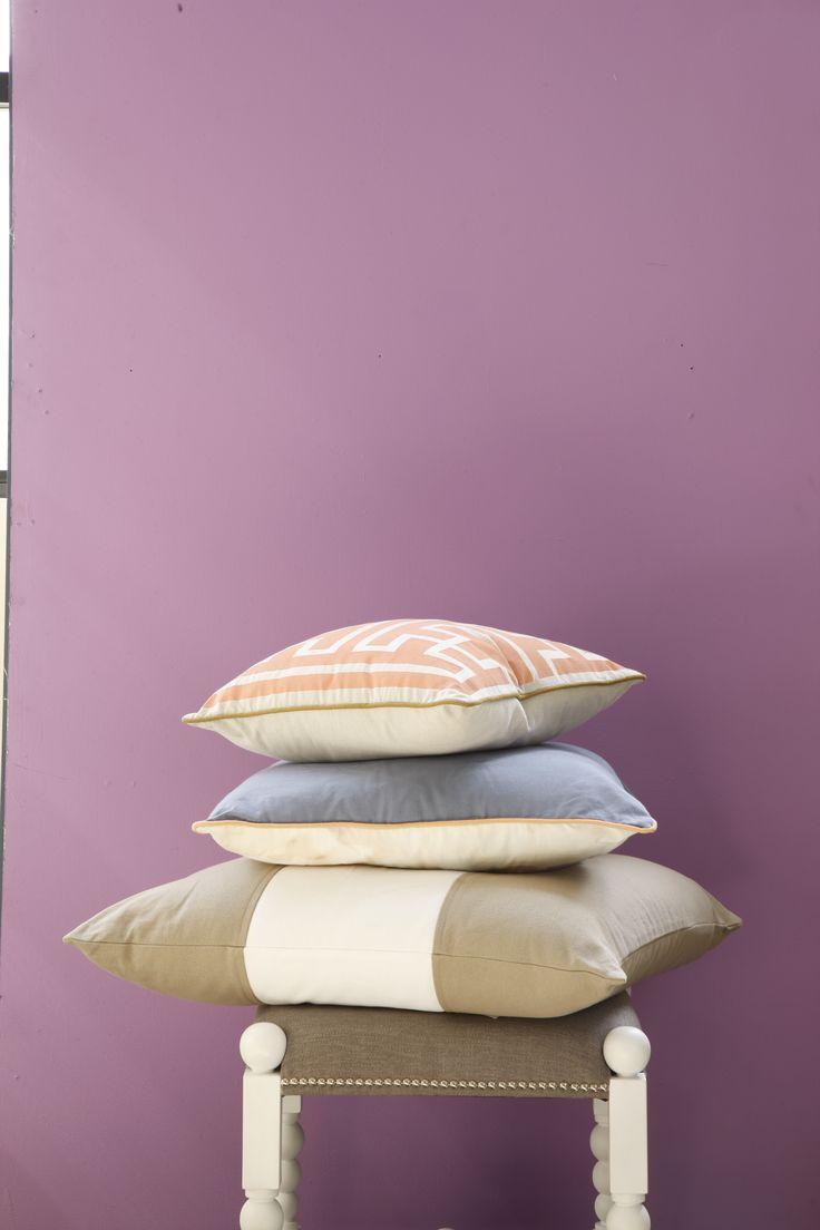 A beautiful display of cushions. www.lazysusanaustralia.com.au
