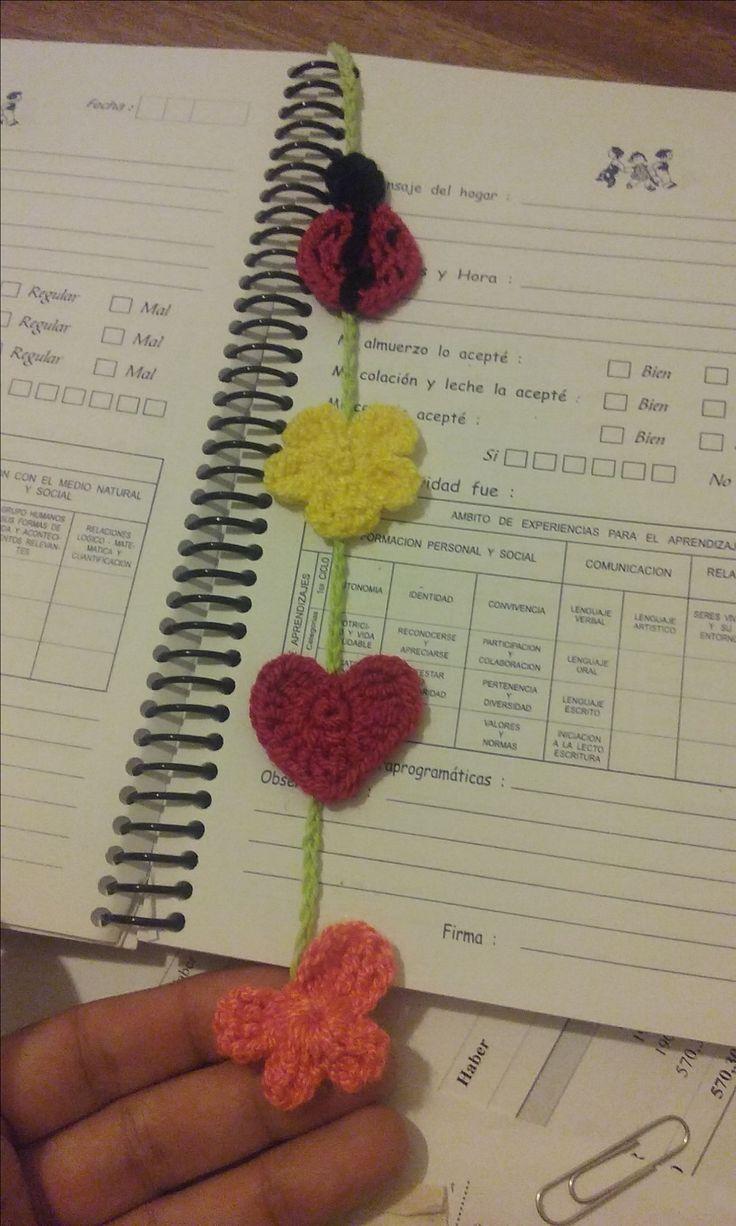 Separador de paginas crochet