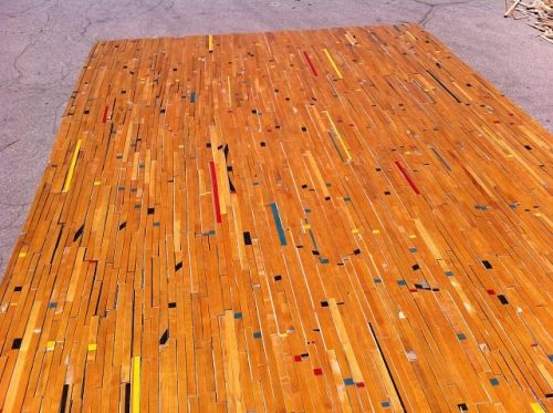 Used Maple Wood Gym Floor - Temple - Sold by 250 sq. f.t bundles This used gym  floor is made of beautiful maple wood. The flooring is currently o… - Used Maple Wood Gym Floor - Temple - Sold By 250 Sq. F.t Bundles