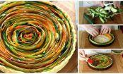 Cómo hacer una tarta de verduras en espiral paso a paso