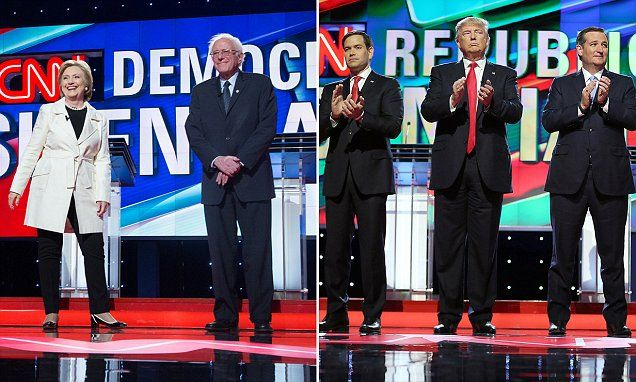 """Short Hillary wanted to debate tall Trump on a STEP STOOL – but was turned down – and she won't get commercial breaks for coughing fits or fainting spells      The Clinton campaign asked the Commission on Presidential Debates to give her a step stool so she wouldn't look much shorter than Donald Trump     Clinton stands 5'4"""", nearly a foot shorter than Trump's 6'2""""     The commission turned down her request but is allowing a custom-built podium to minimize Trump's height advantage     There…"""