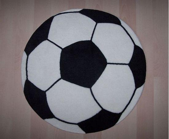 Vloerkleed - voetbal rond