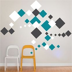 Square Wall Mural Decals