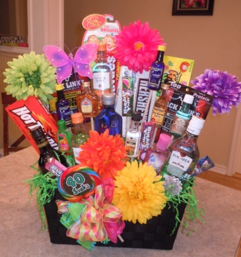 Turning 30 Birthday Basket: A 40th Gift Basket I Made For A Great Friend.
