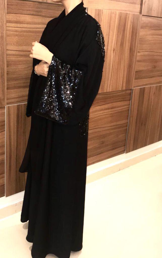 Atlas Boutique Abayah Saudi Arabia Jeddah Fashion Sequins Sequin Skirt