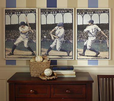 I Love The Baseball Wall Art Set On Potterybarnkids
