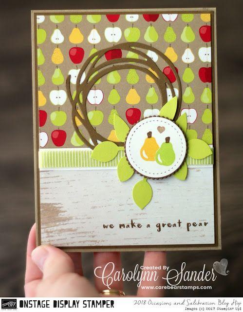 Care Bear Stamps | Fruit Basket stamp set, Tutti-frutti DSP, Lemon Lime Twist Mini Striped Ribbon Stampin ' Up! 2018 Occasions