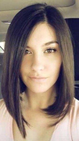 Corte largo estilo bob cabello liso raya lateral 2014.