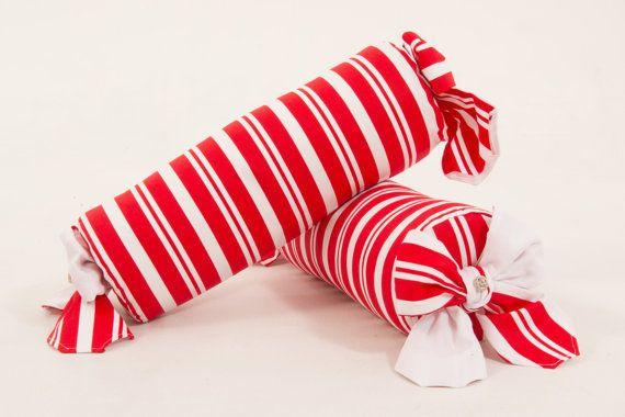 Red and white stripe bolster cushion, bolster cushion, stripe bolster cushion…