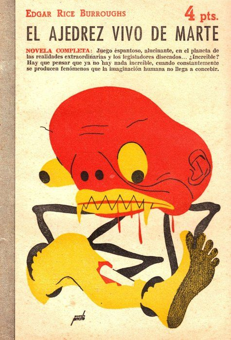 Book cover by Manolo Prieto. ( Vintage Monster Illustration )