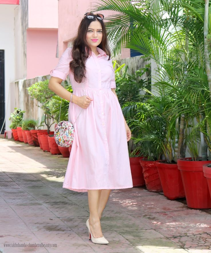 Pretty In Pink - How to Style a Shirt Dress #indianfashionblogger #shirtdress #fashion #indianfashionblog #fashionblogger