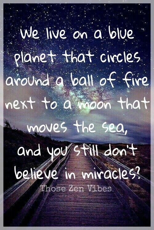 Believe in miracles 🌸🕉 ~ Those Zen Vibes