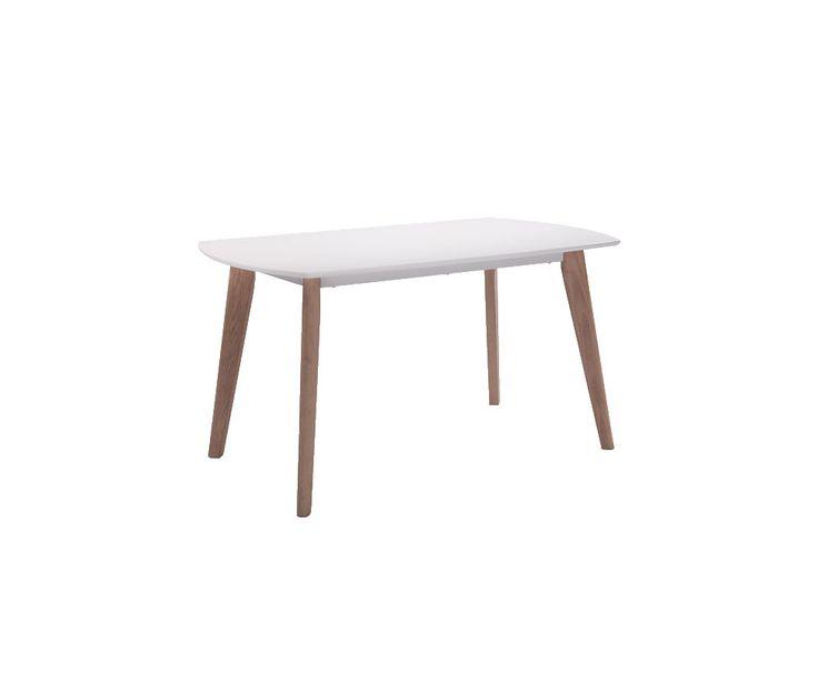 Samsø spisebord er et prisgunstig alternativ i den lekre, nordiske stilen. Bordplaten er lakkert i en holdbar alu-lakk som gir en fin kombinasjon til