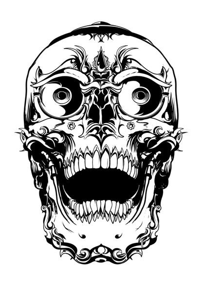 Tibetan Skull Art Print