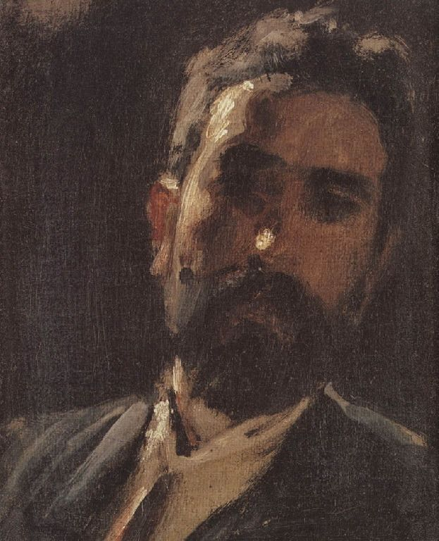 Self portrai, Gyzis Nikolaos (born1 March 1842 in Sklavochori ,Tinos island – died 4 January 1901 in Munich) was considered one of Greece's most important 19th-century painters.