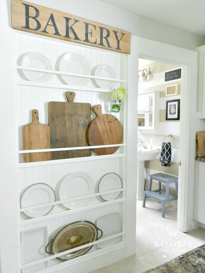 Gallery Of Favorite Farmhouse Plate Racks With Plate Display Wall