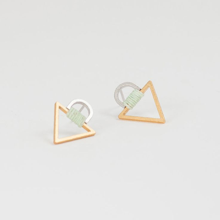 Tab Triangle 2 Studs by Molly M Designs | http://adornmilk.com