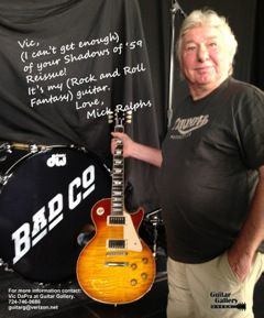 """Mick Ralphs from Bad Company with Vic's """"Shadows of '59"""""""
