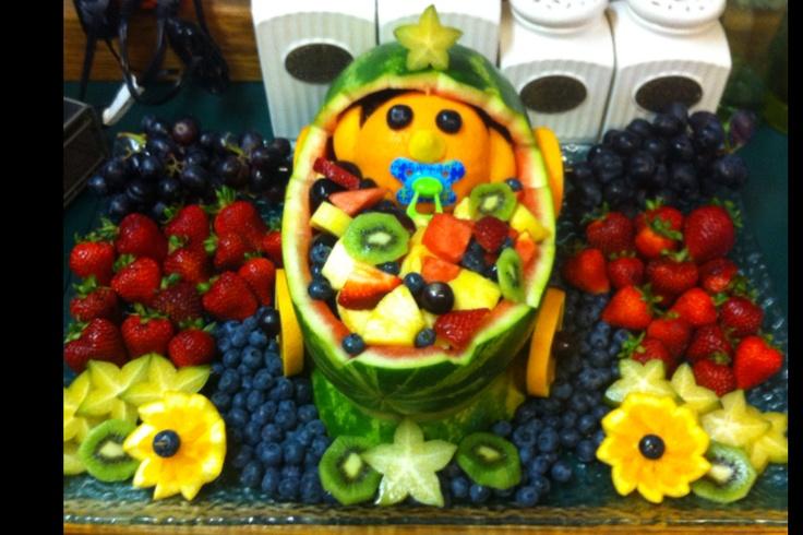 baby shower fruit basket baby shower ideas pinterest baby shower