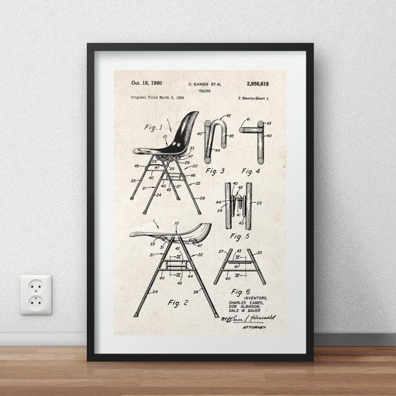 Eames chair patent Poster - DIGITAL PRINTABLE poster - Instant DOWNLOAD - jpg-file - A4
