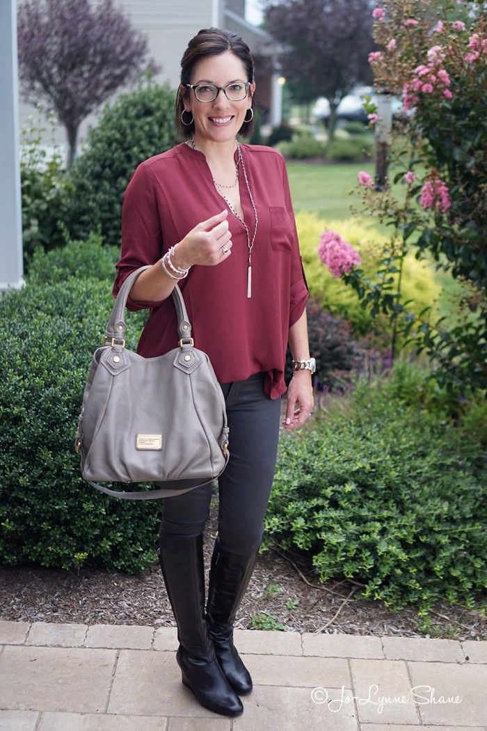 Casual Outfit Formula: Leggings + Tunic + Tall Boots