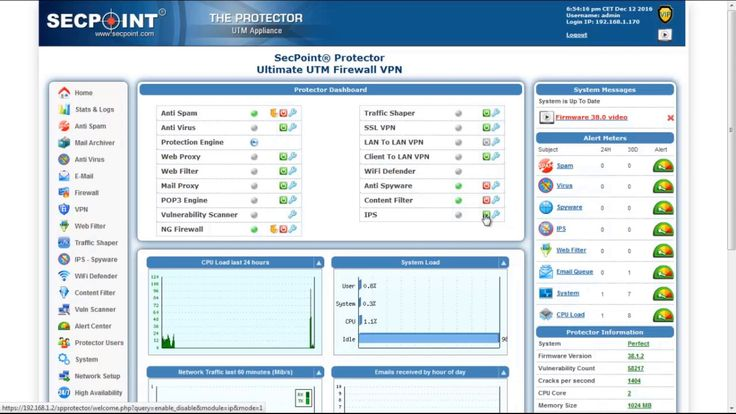 New SecPoint Protector UTM Firewall - IPS Setup Menu Video https://www.youtube.com/watch?v=hwsNuQp1qrM #secpoint #protector #UTM #firewall #64bit #ips #infosec