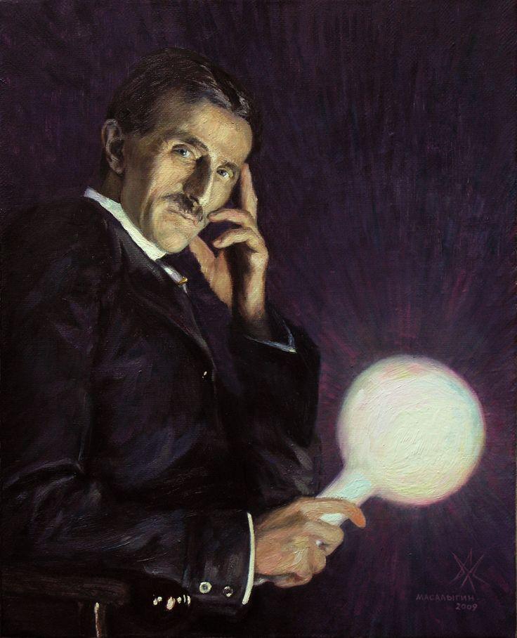 Nikola Tesla. Portrait.