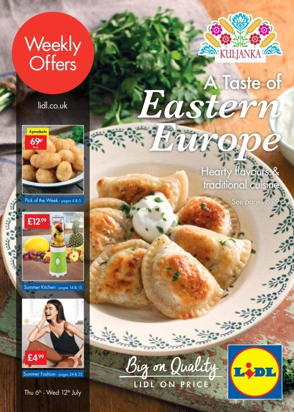 Eastern European Week, Summer Kitchen, Summer Fashion and more offers in this Lidl catalogue.