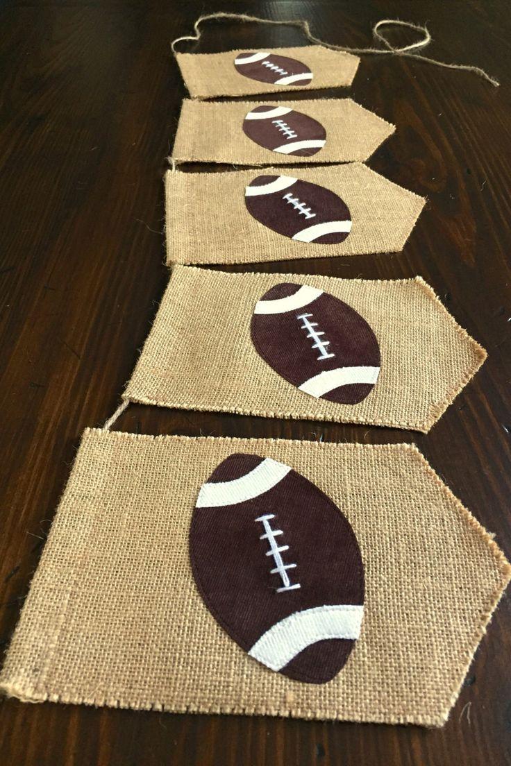 Football Bunting Banner//Football Birthday//Sports Birthday//Football Nursery or Kid's Room Décor//Cake Smash Photo Prop//asher + blaine by asherblaine on Etsy https://www.etsy.com/listing/239256916/football-bunting-bannerfootball