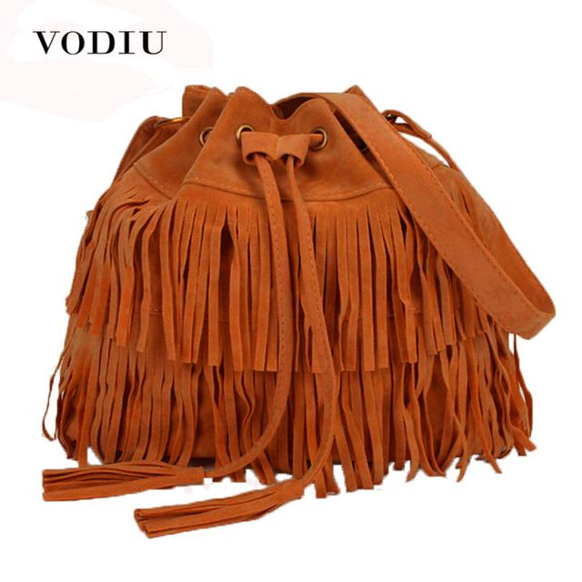 Amazing Price $7.85, Buy Women Bag Handbags Tote Over Shoulder Crossbody Sling Summer Tassel Purses Suede Fringe Big Cool Female Drawstring Motorcycle
